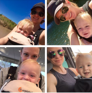 Actress A.J. Cook and her son Phoenix Sky Andersen