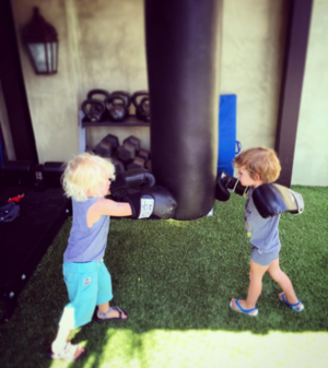 Daniela Ruah's son, River and Eric Christian Olsen's son, Wyatt.