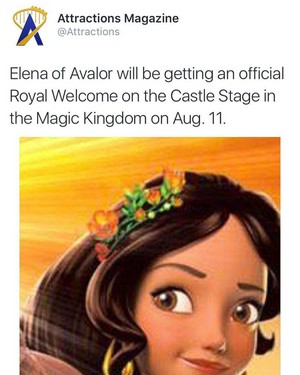 Elena Royal Welcome