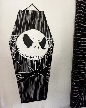 Jack Skellington Coffin Art