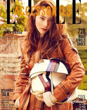 Krystal is all elegance on the cover of 'Elle'