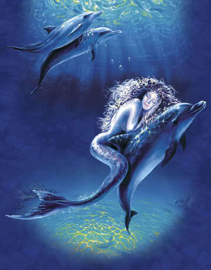 Mermaid with delphin