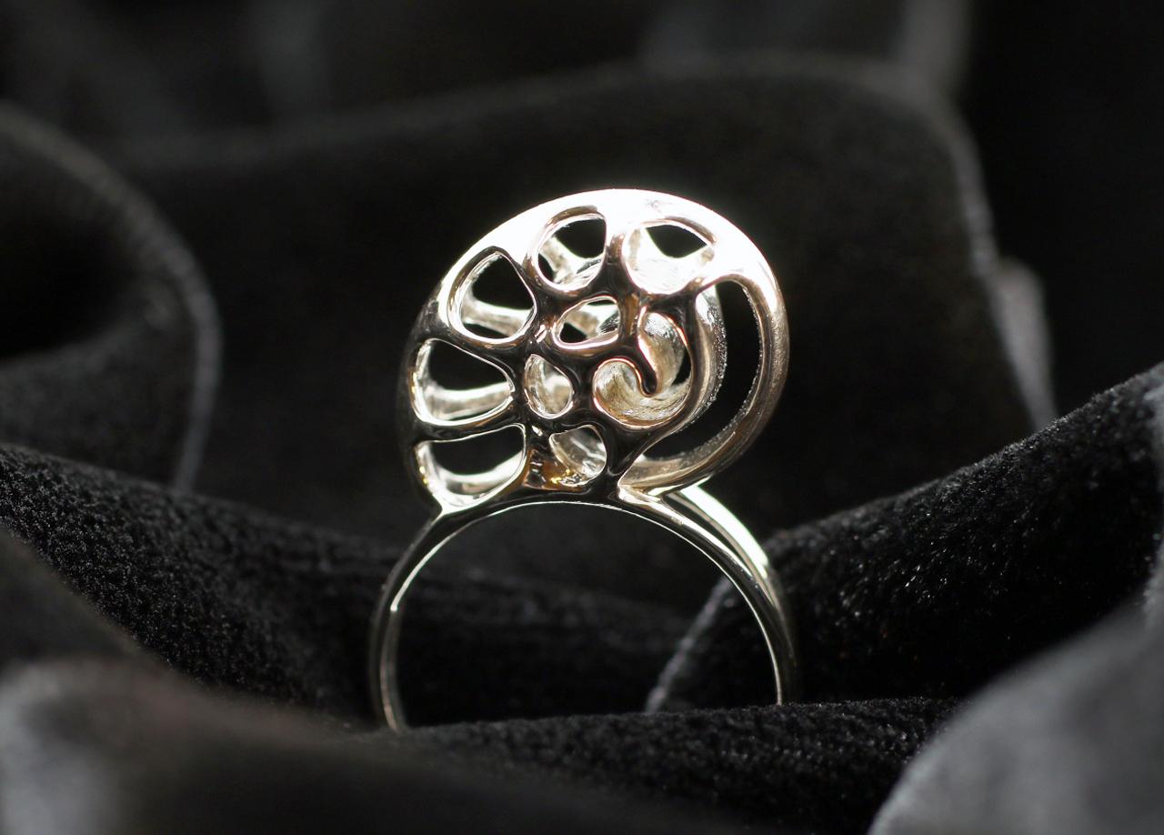vulcanjewelry images silver nautilus ring, seashell ring, shell
