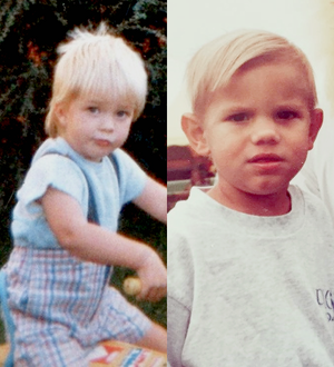 blonde haired Twilight babies,Robert Pattinson and Taylor Lautner