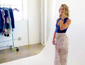 emily bett rickards 'bts' for nkd mag