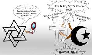 Abrahamic Religions: The Three Spiteful Brothers