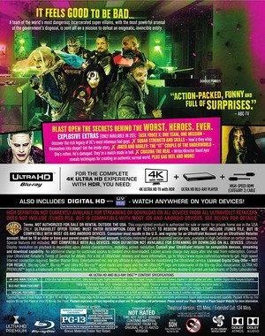 Back Cover of 'Suicide Squad' Blu-Ray