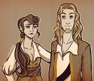 Guybrush and Elaine - Hairstyle Swap!
