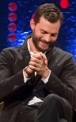 Jamie Dornan attends The Jonathan Ross tunjuk on September, 24