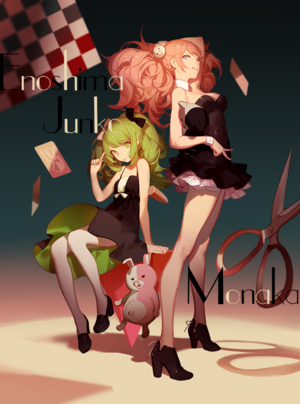 Junko Enoshima And Monaca Towa. The Despair Girls