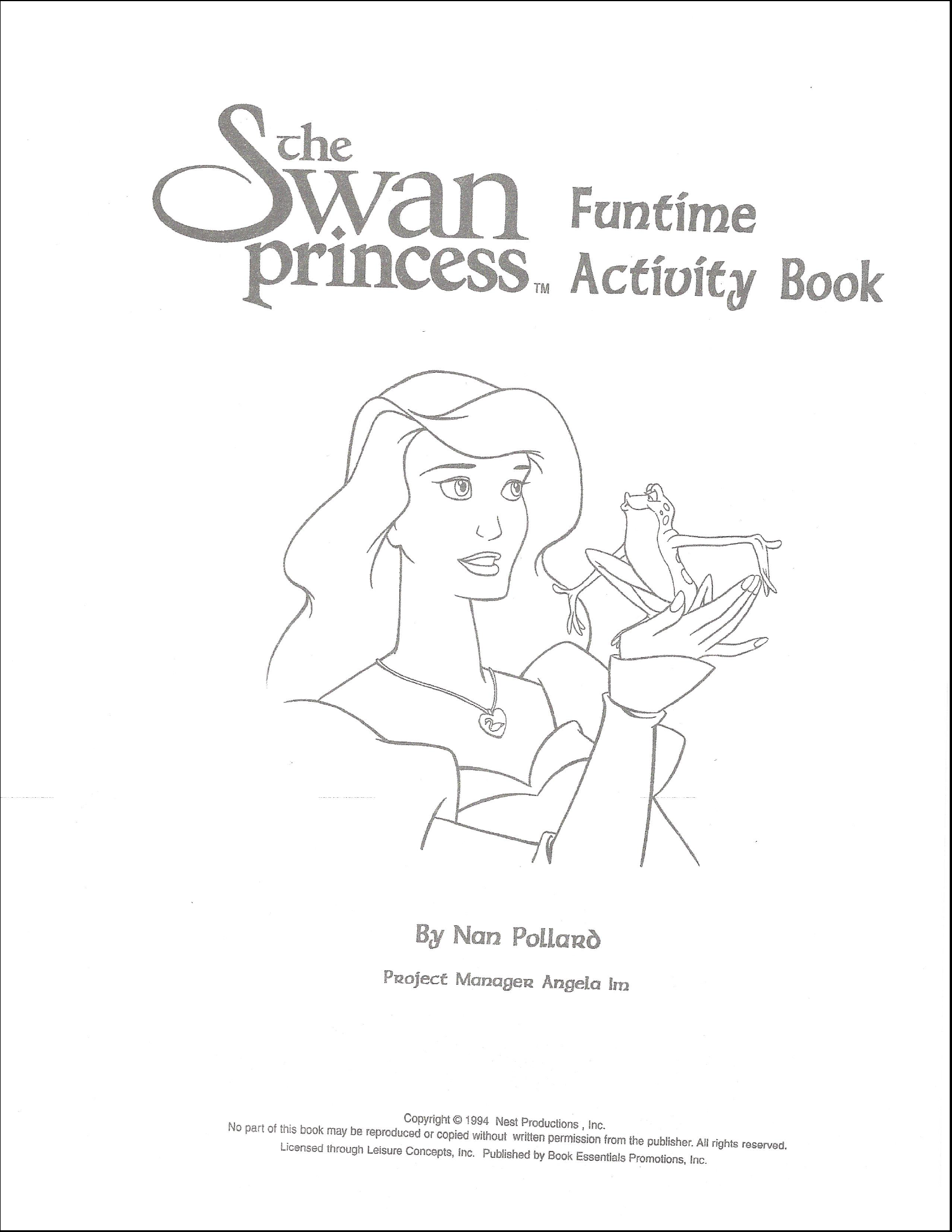Swan Princess Funtime Activity Book page 1