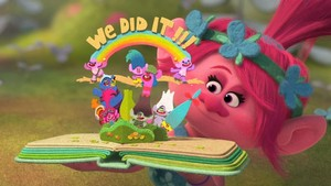 Trolls - Princess Poppy scrapbook