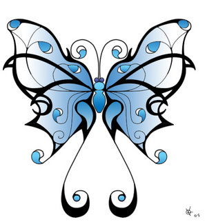butterfly, kipepeo tattoo designs picture
