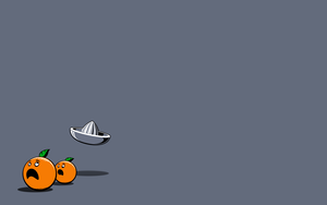 funny minimalistic oranges grey background background 1920x1200