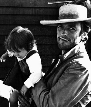 Clint Eastwood on the set of The Good the Bad and the Ugly 1966