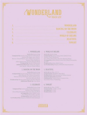 Jessica shares tracklist for her 2nd mini album 'Wonderland'!