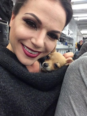 Lana and a welpe