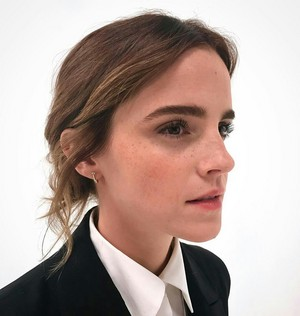 Photos of Emma from the make-up artist made before dialogue with the press 15/11/16