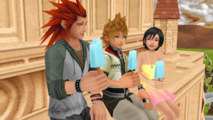 Roxas, Axel and Xion Best vrienden Forever Got it Memorized.