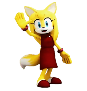 zooey the rubah, fox renders sonic boom