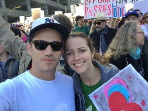 Amy and James at the Women's March