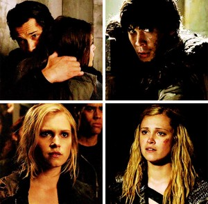 BELLARKE looking at each other 1x01 vs 2X16