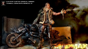 "Calvin's Custom 1:6 One sixth scale TOYSOUL 2016 Special ""MAD MAX"" Fury Road on Bike"