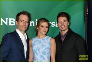 Josh Henderson, Michael Vartan and Christine Evangelista at the 2017 TCA Winter Tour