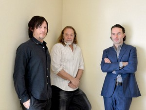 Norman Reedus, Andrew lincoln and Greg Nicotero