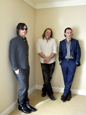 Norman Reedus, Andrew लिंकन and Greg Nicotero