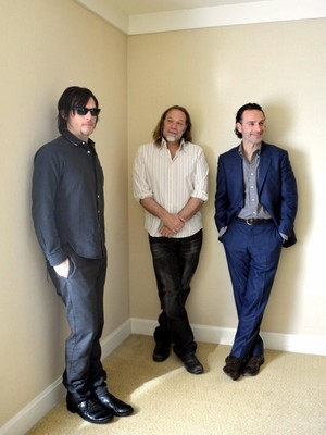 Norman Reedus, Andrew リンカーン and Greg Nicotero