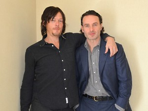 Norman Reedus and Andrew Lincoln