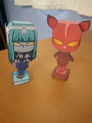 Sky Raker and Blood Leopard Papercraft