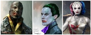 'Suicide Squad' Concept Art ~ Killer Croc, The Joker and Harley Quinn