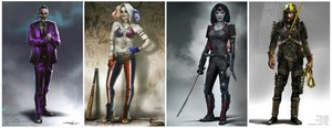 'Suicide Squad' Concept Art ~ The Joker, Harley Quinn, Katana and Slipknot