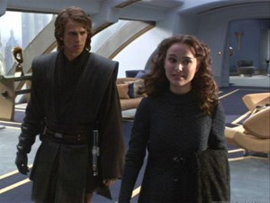 Padme and Anakin coruscant