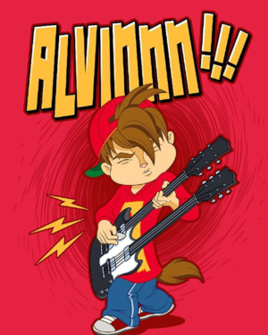 Alvin with a Guitar