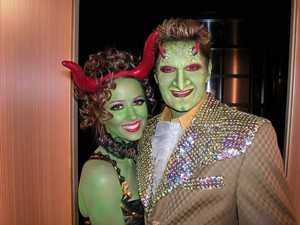 Amy Acker and Andy Hallett