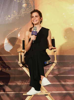 Emma at press conference for BATB