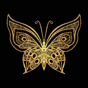 Gold Butterfly