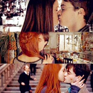 Harry and Ginny all kiss
