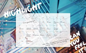 Highlight release comeback schedule for 'Can 당신 Feel It' album!