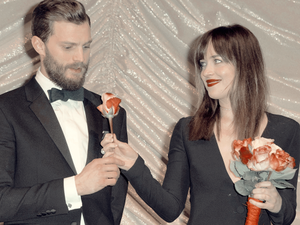 Jamie and Dakota in 2015 at a Fifty Shades of Grey premier