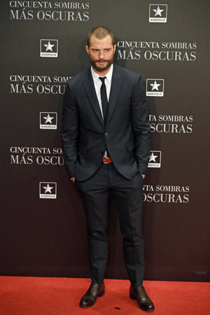 Jamie at Madrid premiere of Fifty Shades Darker