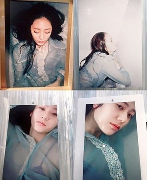 Krystal takes a bath in foto's for her art collaboration exhibit