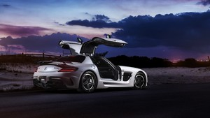 Mercedes-Benz SLS AMG Renntech (Tuning, Night, Nature)