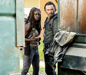 Rick and Michonne