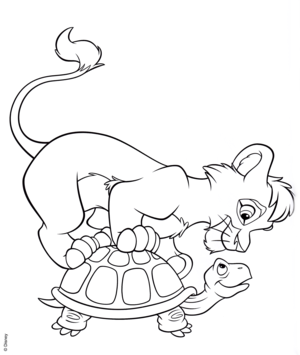 Walt Disney Coloring Pages – Kovu
