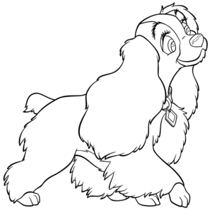 Walt Disney Coloring Pages - Lady
