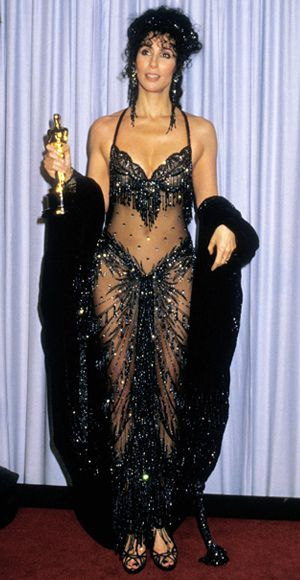 Cher Backstage At 1988 Oscars